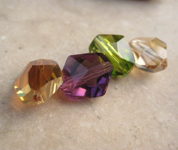 Cosmic Bead Sampler Set of Color Swarovski Crystal 12mm