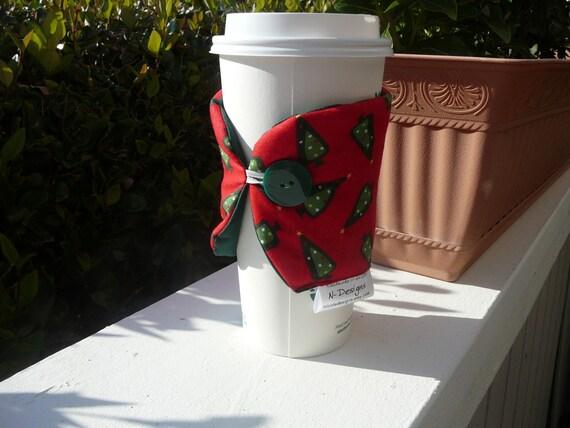Christmas Tree Coffee Cozy Cup Holder