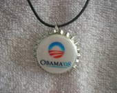 Barack Obama bottle cap necklace