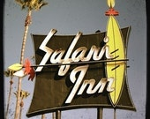 Safari Inn Motel Neon Sign 5x5 Fine Art Photo