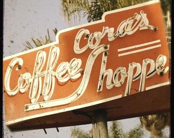 Coffee Neon Sign 5x5 Fine Art Photo