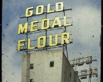 Gold Medal Flour Sign 5x5 Fine Art Photo