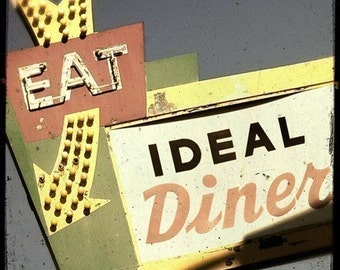 Ideal Diner Neon Sign 5x5 Fine Art Photo
