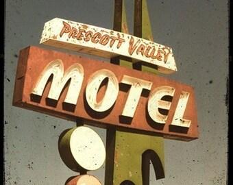 Prescott Valley Motel Sign 5x5 Fine Art Photo