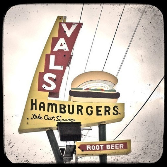 Vals Burgers Sign 5x5 Fine Art Photo