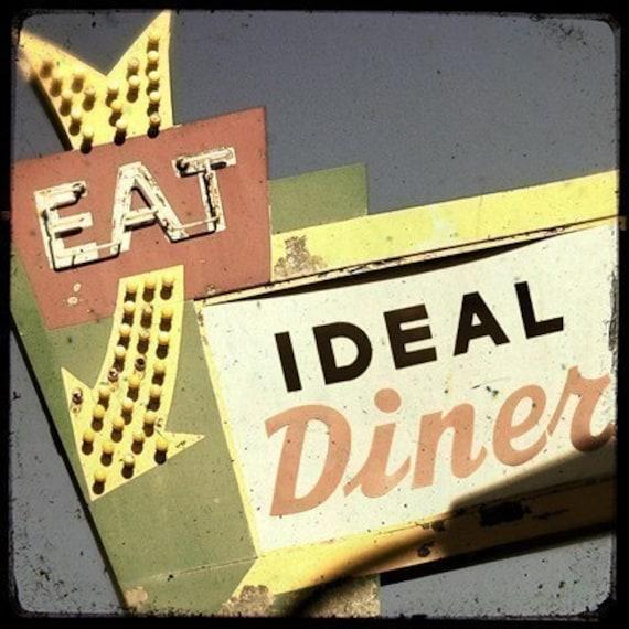 Ideal Diner Neon Sign 5x5 Fine Art Photo
