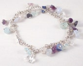 Reserved for VixKitten - Gemstone charm bracelet