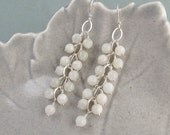 Luna - Genuine Moonstone and sterling silver earrings