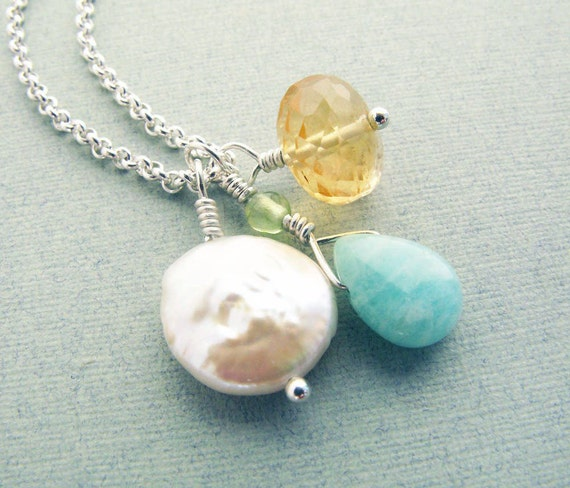 SOFTLY -citrine and sterling silver necklace
