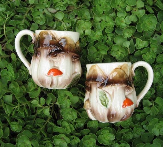 Mushroom toadstool cups mugs - 2