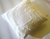 Beautiful White on White Bedroom Pillow