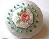 Unique Embroidered Brooch