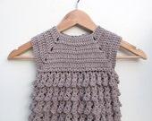 toddlers dress, chrochet dress, litle girls dress, dune toddlers dress