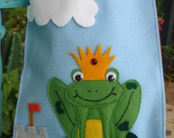 Party bags, birthday Frog prince/ princess, goodie bags, party favors, boy, goody bags