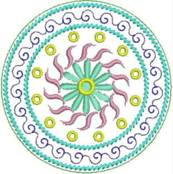 Set of Mandalas - PES INSTANT DOWNLOAD - smr010 - Machine Embroidery Designs