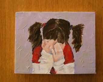 Hide- Original Acrylic Painting.
