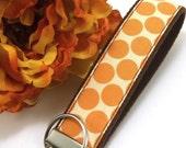 Amy Butler Key Fob Tangerine Dots