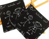 Charming Teacher Coasters Set of 2...School BlackBoard Scribbles
