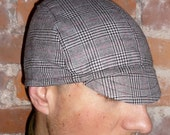 LARGE houndstooth plaid CYCLING CAP