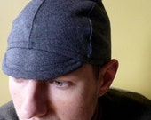 Gray Wool CYCLING CAP