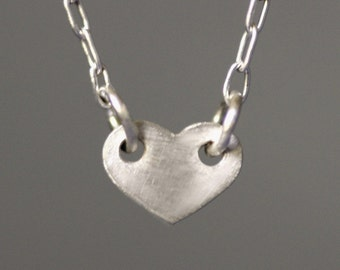 Baby Heart Necklace in Sterling Silver