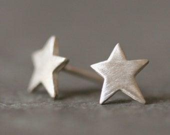 Star Stud Earrings in Sterling Silver