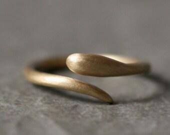 Baby Snake Ring in 10K Gold