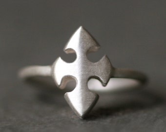 Knights Templar Cross Ring in Sterling Silver