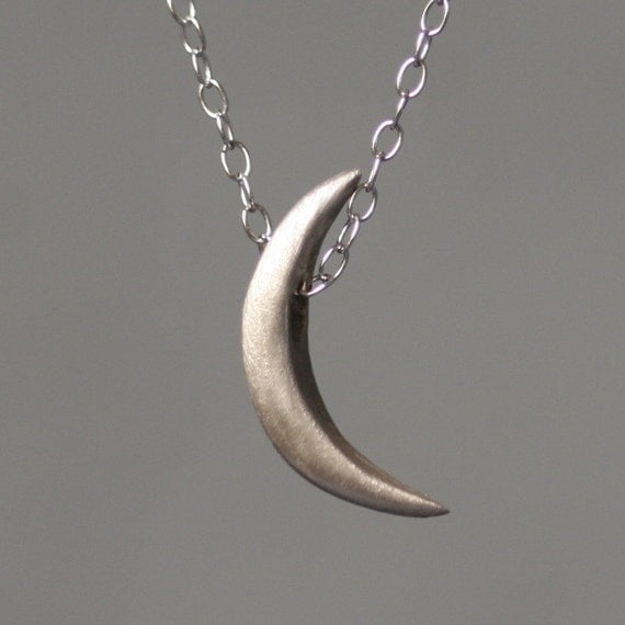 Crescent Moon Necklace in 14K Gold