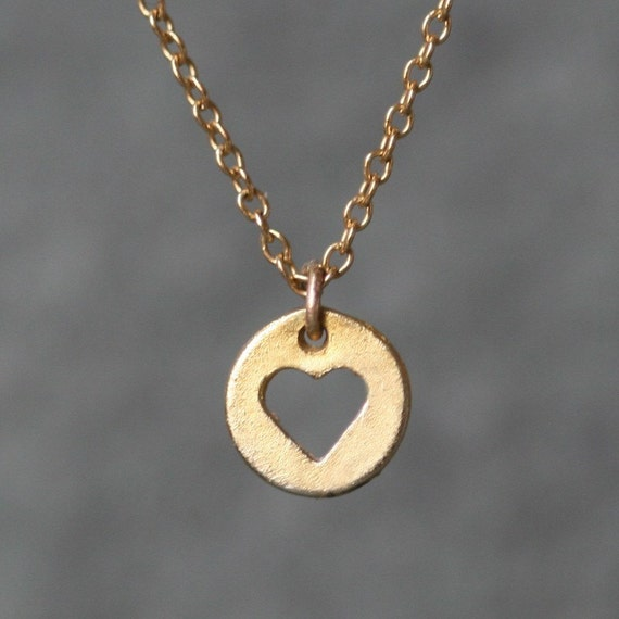 Heart Cutout Necklace in Gold Vermeil