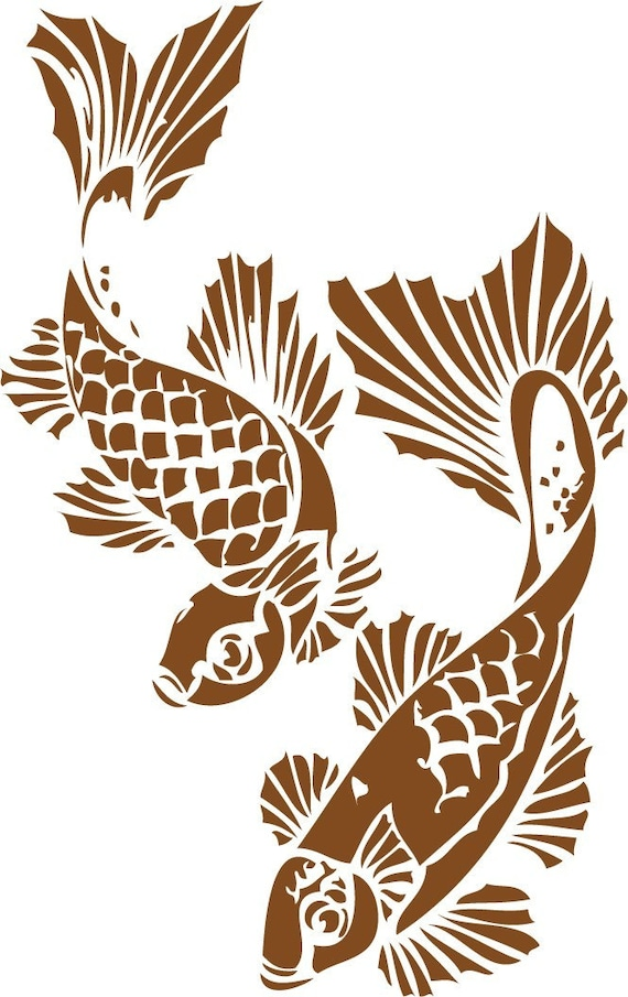 Items similar to koi wall decal on etsy for Koi wall decal