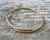 Hammered Brass Adjustable Bracelet
