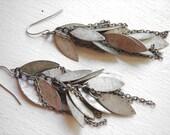Industrial Chic Jewelry : Metal Dangle Earrings, Dangly Chain Earrings