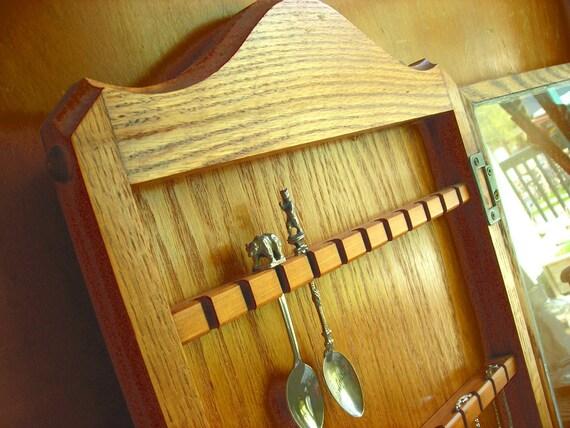 Huge Vintage Wood Glass Display Cabinet