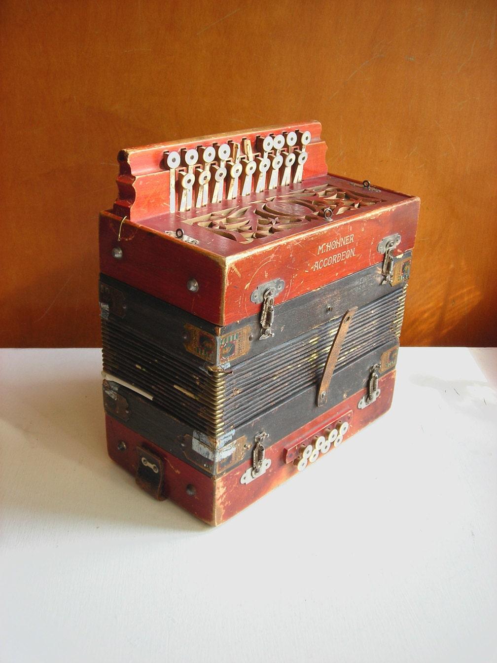 Antique Hohner Accordion Button Box Diatonic Germany