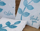 Hello and Thank You - Handmade Paper Cards