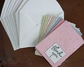 Mini Thank you cards - Handmade Paper