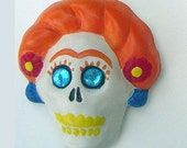 Day of the Dead Art - Skull Magnet