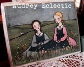 ORIGINAL Little House Painting Prairie Girls