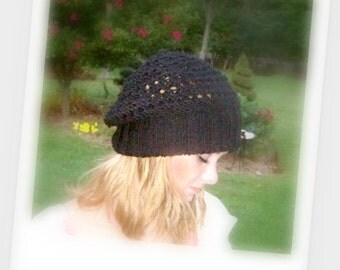 Slouchy Hat Pattern / Instant Download /  Pattern for Casual Hat-e pattern