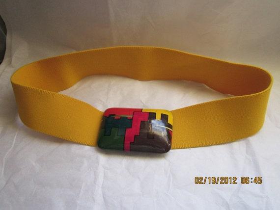 Vintage Bill Blass Mod Belt with Blocks of Color