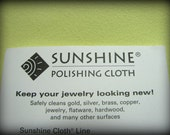 Large Silver Polishing Cloth, Sunshine Polishing Cloth for Sterling Silver Jewelry, 5 x 7.5 inches