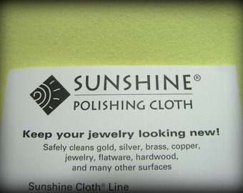 Jeweler's Sunshine Polishing Cloth for Gold and Sterling Silver Jewelry Large Size 5 x 7.5 inches Best to Shine Jewellery