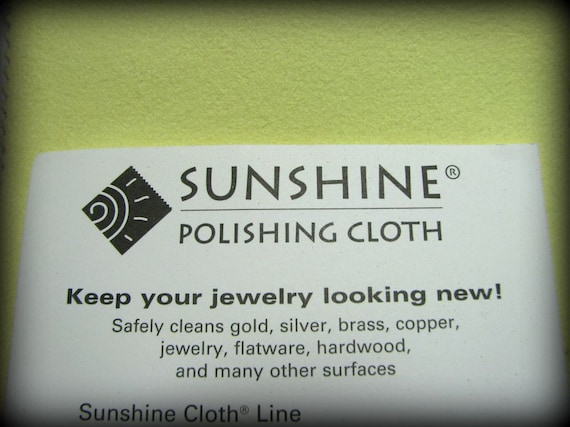 Large POLISHING JEWELRY CLOTH 5 x 7.5 inches Sunshine Polishing Cloth for Sterling Silver Jewelry