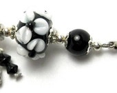 Black\/White Floral with Chandelier Charm (c9041E)