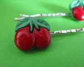Cherry Bobby Pins - Retro Rockabilly