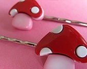 Mushroom Bobby Pins