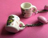 Coffee Monkeys - Kawaii Miniature Mug Earrings