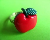 Red Apple Ring - Adjustable Fruit Ring