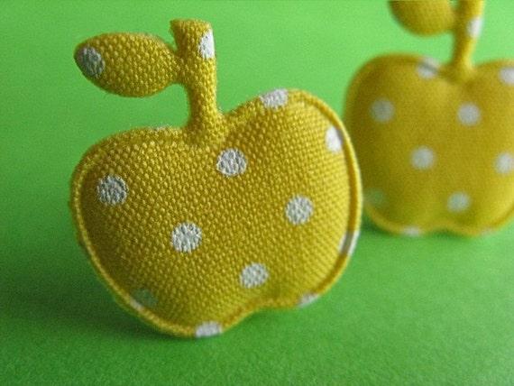 Yellow Apple Stud Earrings